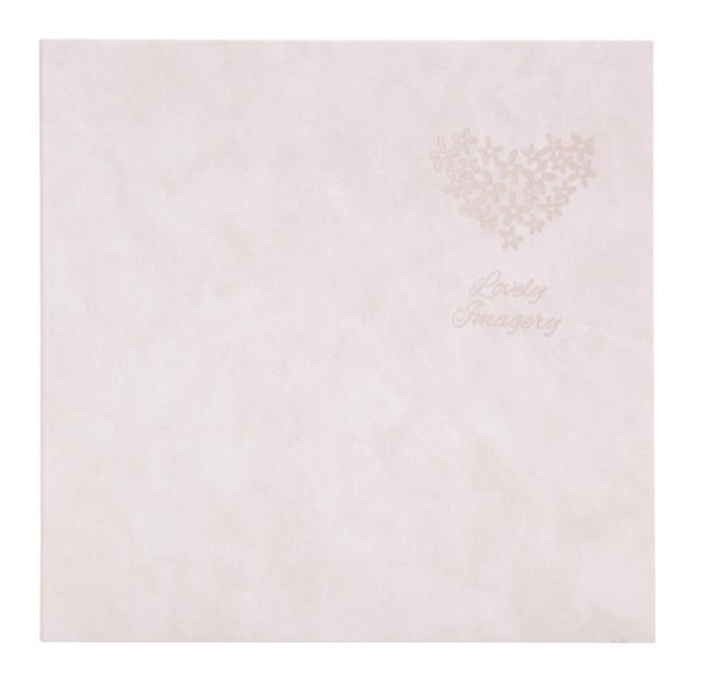 フォトマウントましかく(89x89mm) 2面 5冊入り マーブルホワイト 箔:ハート