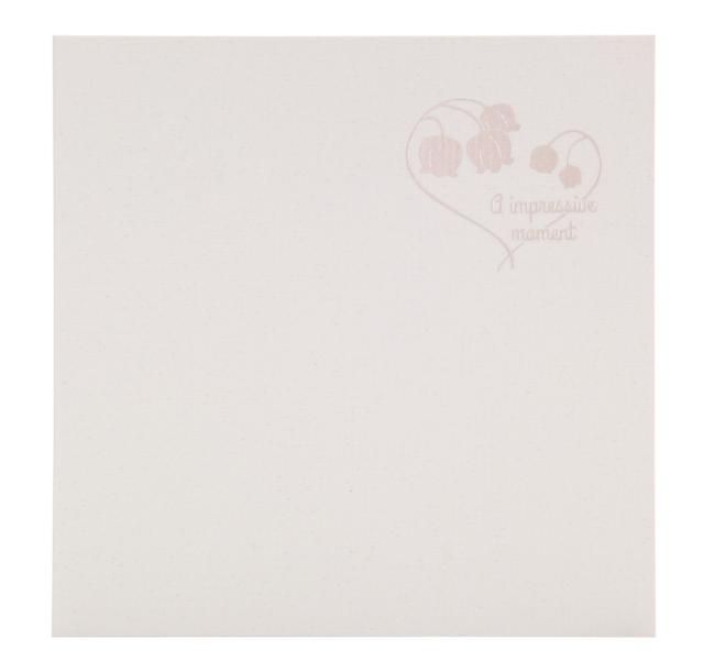 フォトマウントましかく(89x89mm) 2面 ホワイト 箔:すずらん