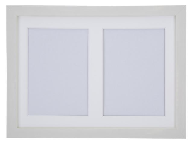 高級木製額縁 FI メタリックホワイト 多面 2L 2面