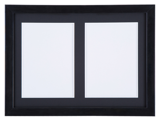 高級木製額縁 FI メタリックブラック 多面 2L 2面