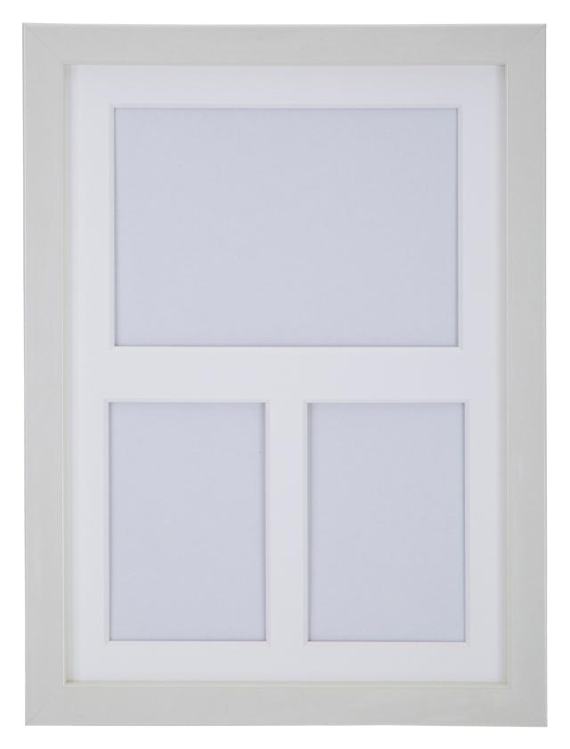 高級木製額縁 FI メタリックホワイト 多面 2L / L判2面