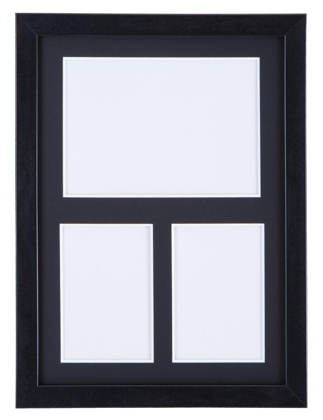 高級木製額縁 FI メタリックブラック 多面 2L / L判2面