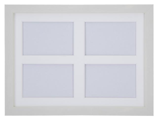 高級木製額縁 FI メタリックホワイト 多面 L判4面