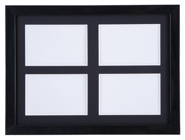 高級木製額縁 FI メタリックブラック 多面 L判4面