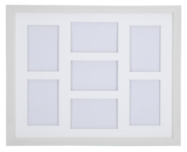 高級木製額縁 FI メタリックホワイト 多面 L判7面 タテ/ヨコ