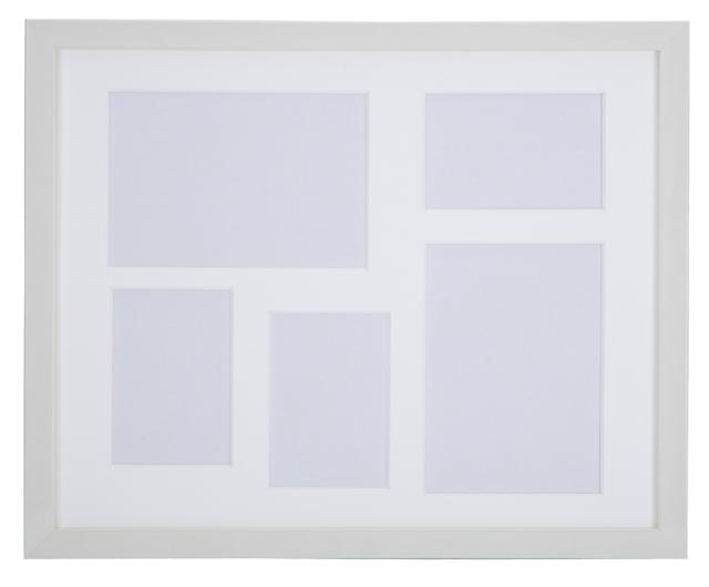 高級木製額縁 FI メタリックホワイト 多面 2L 2面 / L判3面