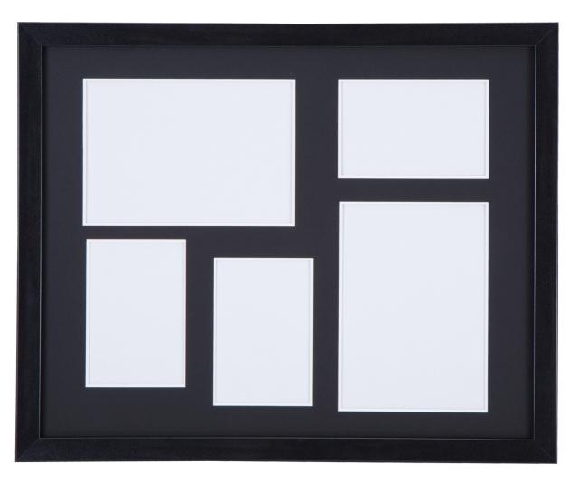 高級木製額縁 FI メタリックブラック 多面 2L 2面 / L判3面