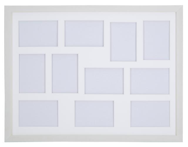 高級木製額縁 FI メタリックホワイト 多面 L判11面
