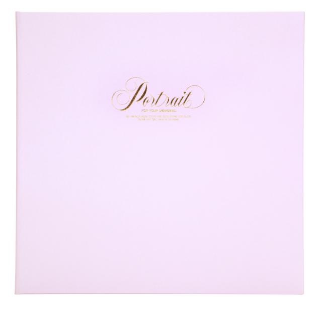 ポートレート台紙 V-68 6切3面 ピンク