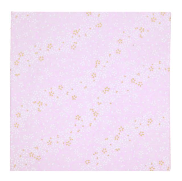 京都友禅和紙使用 ポートレート台紙 V-50 2L-2面 流水桜薄桃色