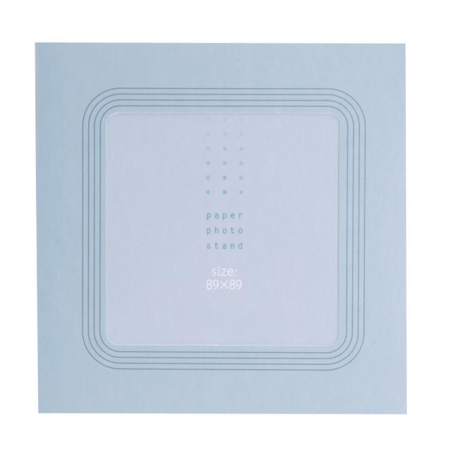 ペーパーフォトスタンド ましかく(89x89mm) ライン ブルー