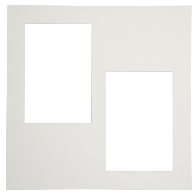 カスタム中台紙  2Lサイズ ホワイト 窓抜:L判角2面