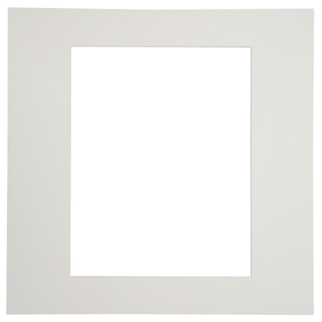 カスタム中台紙  6切サイズ ホワイト 窓抜:6切角