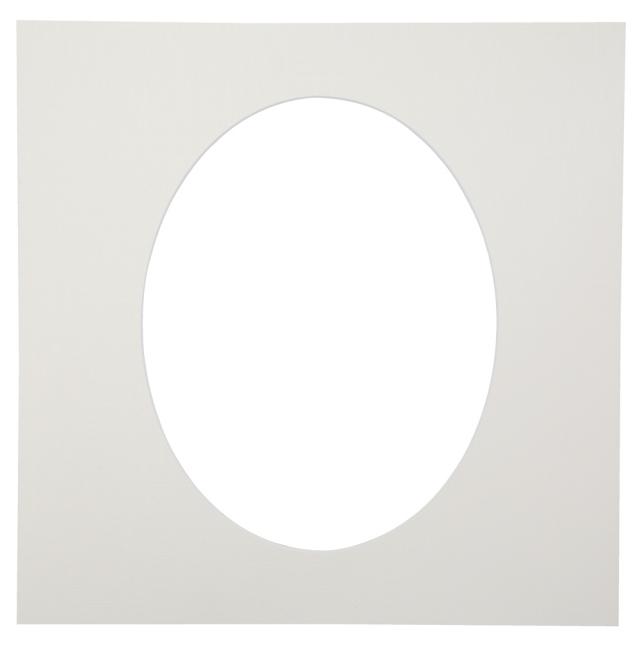カスタム中台紙  6切サイズ ホワイト 窓抜:6切楕円