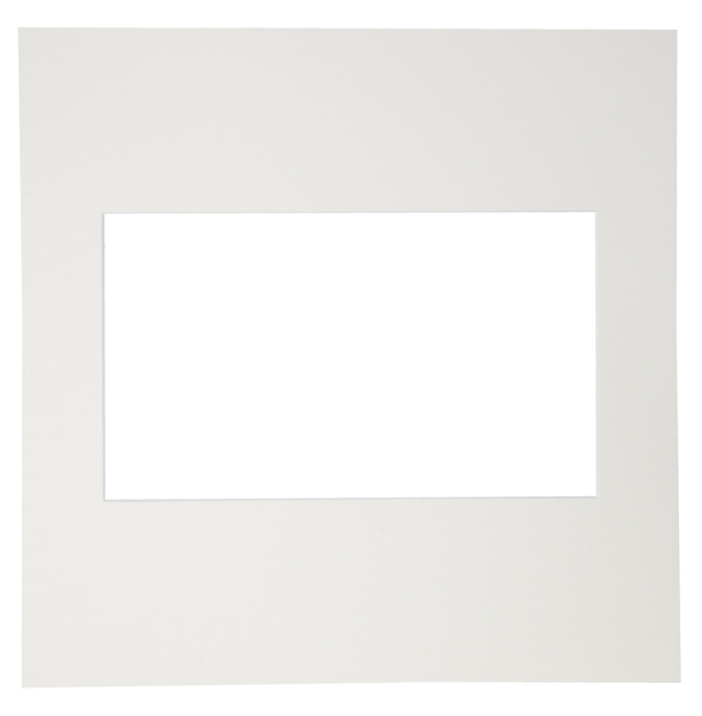 カスタム中台紙  6切サイズ ホワイト 窓抜:集合6切