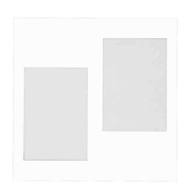 NEWハートスケープ用 中台紙 L判2面角 ホワイト 2枚入り