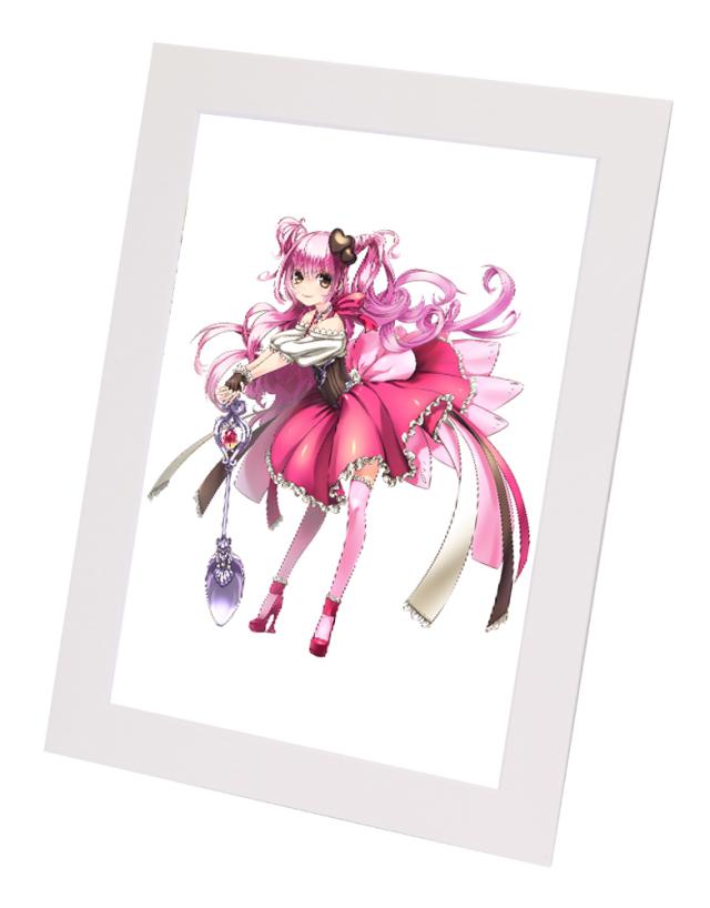 アニメ・キャラクターグッズにピッタリ!  A4クリアファイル用ペーパーフレーム ホワイト