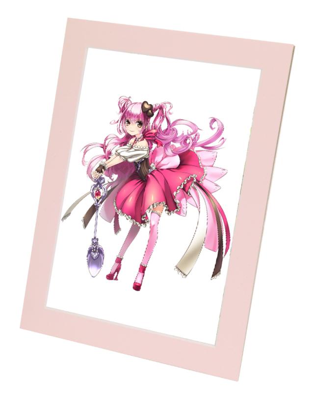 アニメ・キャラクターグッズにピッタリ!  A4クリアファイル用ペーパーフレーム ライトピンク