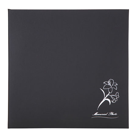 仏事台紙 メモリアルフラワー 2L 2面 ブラック