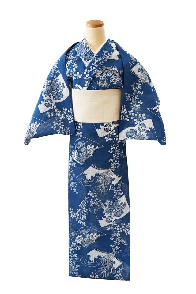【反物】女性 『紅梅小紋』萩に和本