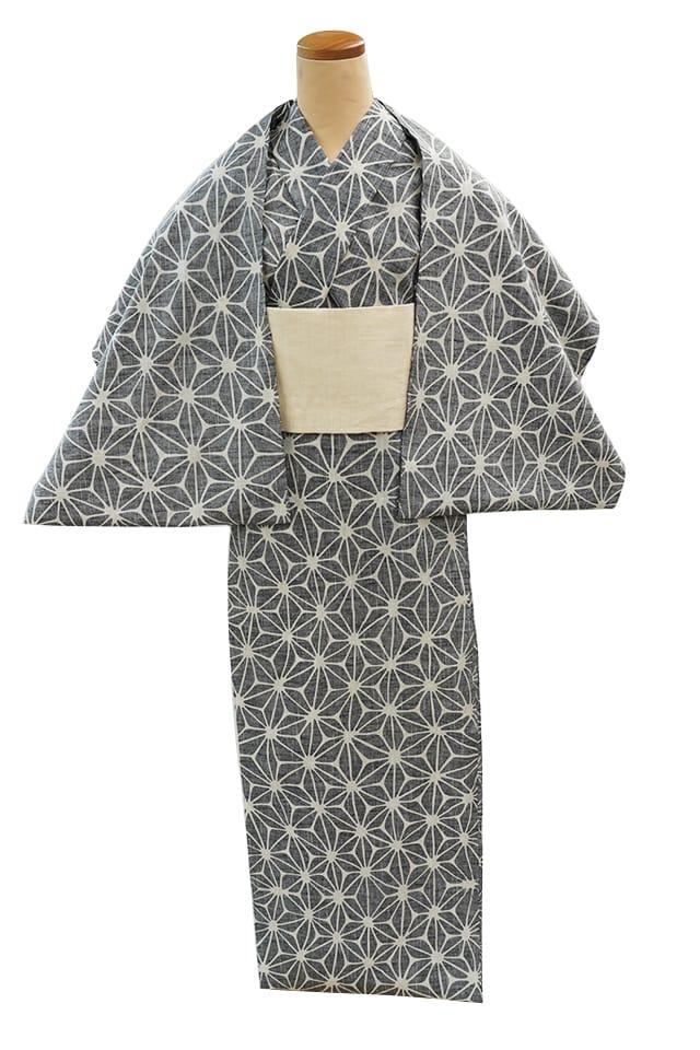 【反物】女性 『紬ゆかた』麻の葉