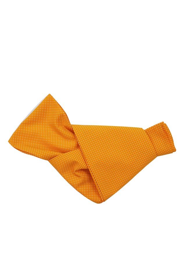 【染兵児帯】行儀 オレンジ