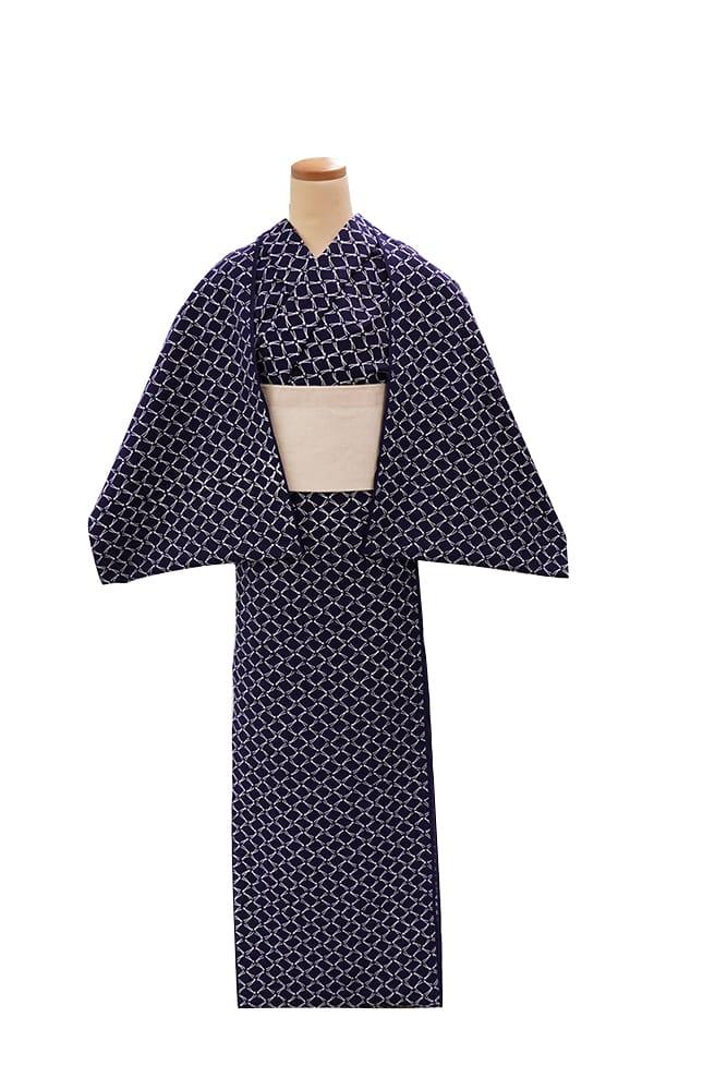 【反物】女性 『コーマ地染』松葉格子