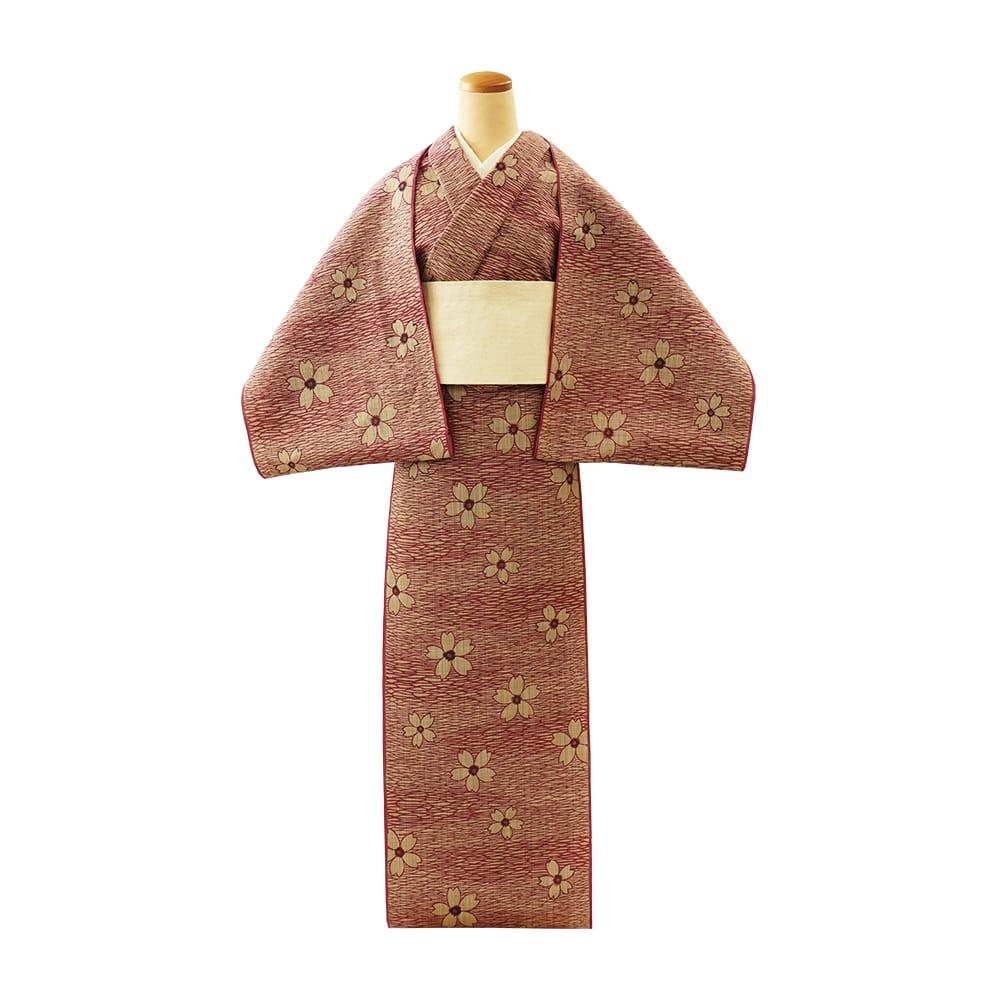 【反物】女性 『松煙染小紋』 桜小紋