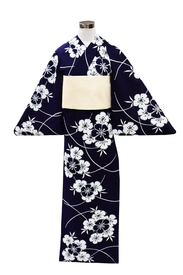 【反物】女性 『コーマ地染』撫子の花束