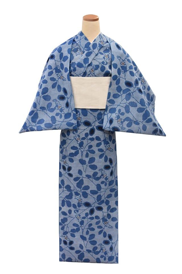 【反物】女性 『紅梅小紋』萩 桝目描き
