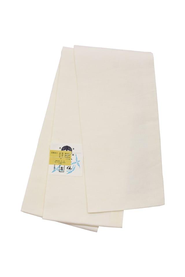 【麻市松半巾帯】 白