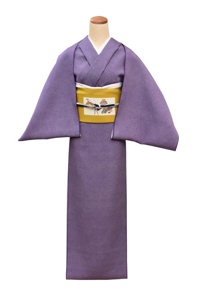 『江戸小紋』本極大小霰 藤紫