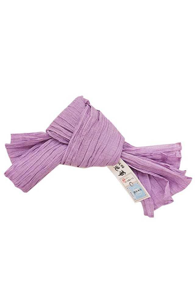 【麻兵児帯】薄紫色