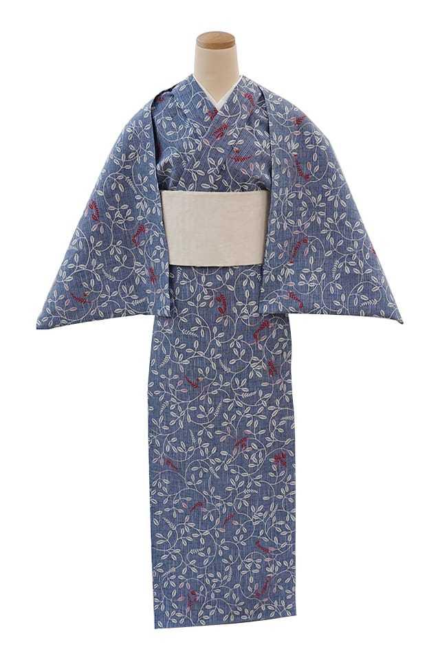 【反物】女性 『紬ゆかた』萩小紋