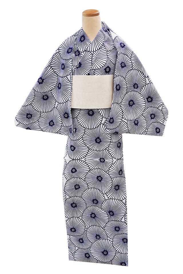 【反物】女性 『コーマ白地』万寿菊
