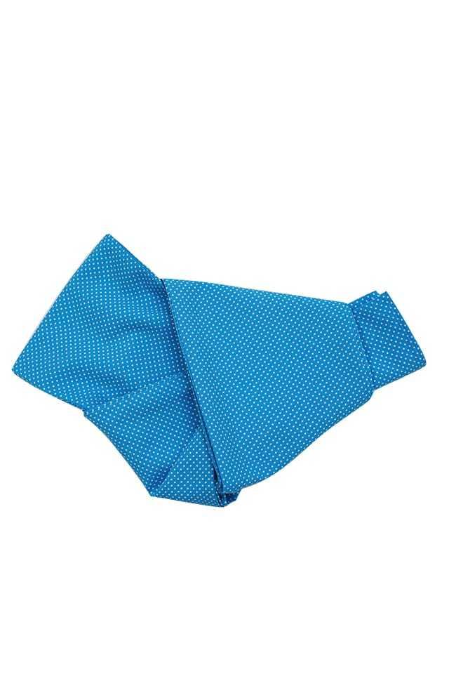 【染兵児帯】行儀 ブルー