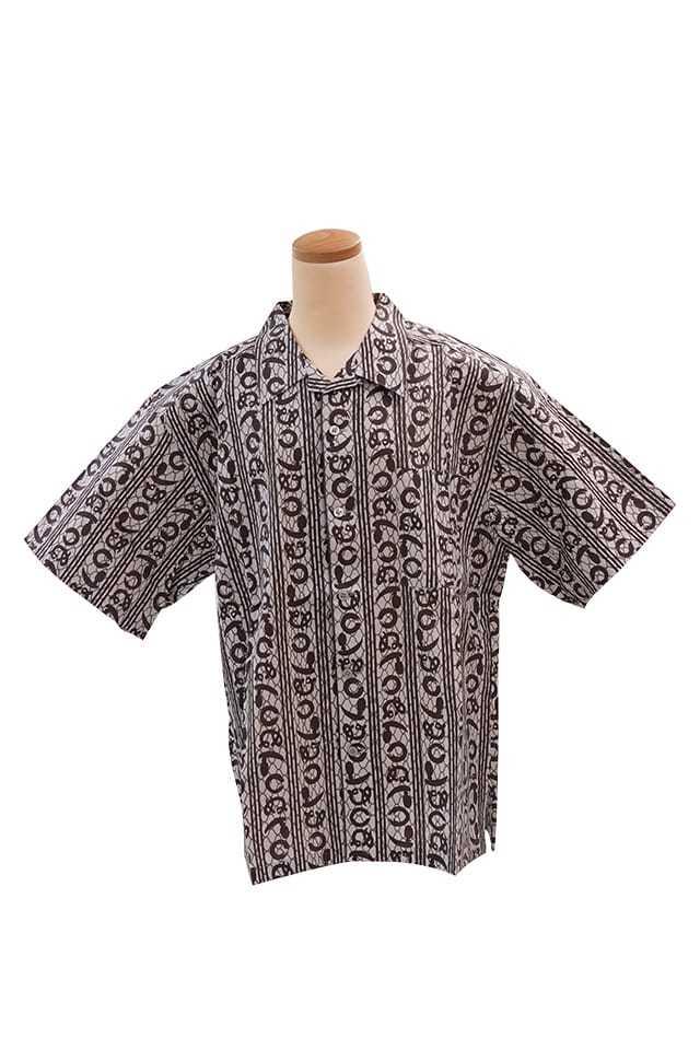 【竺仙アロハシャツ】網目にかまわぬ<Mサイズ>