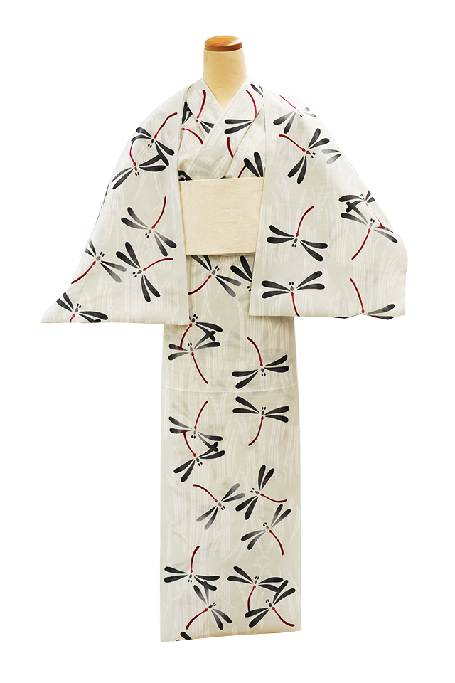 【反物】女性 『玉むし』綿芭蕉 菖蒲にとんぼ