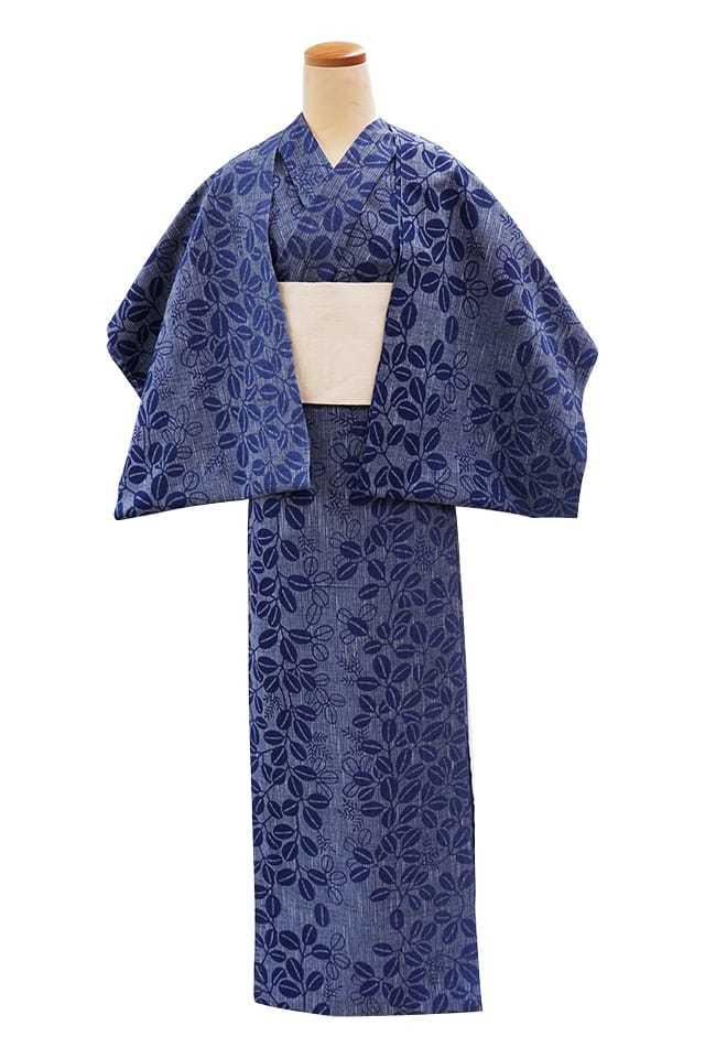 【反物】女性 『紬ゆかた』萩