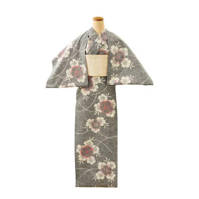 【反物】女性 『紬ゆかた』撫子の花束