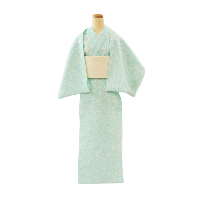 【反物】女性 『かげろうゆかた』萩小紋 薄水色