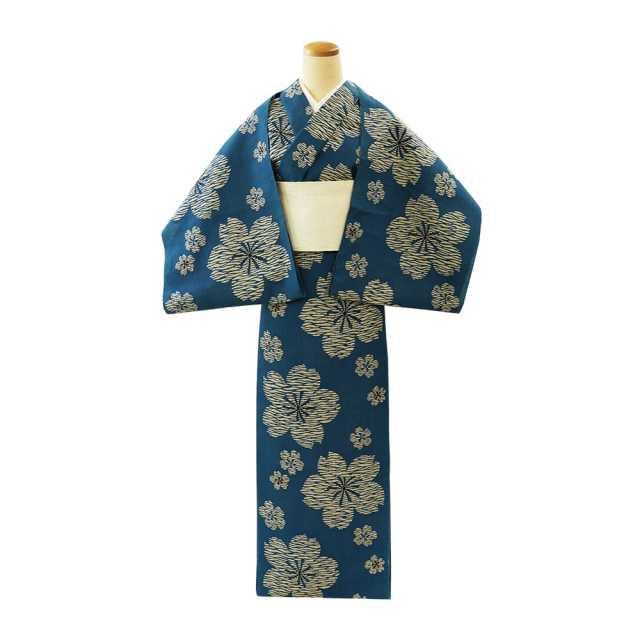 【反物】女性 『奥州小紋』 桜花散らし