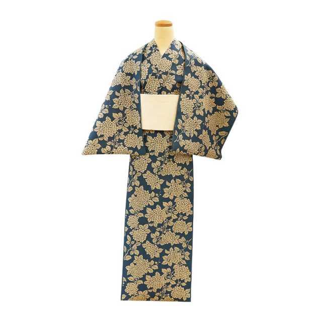 【反物】女性 『奥州小紋』 紫陽花