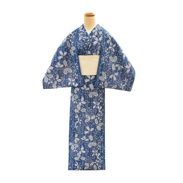 【反物】女性 『紅梅小紋』萩と女郎花
