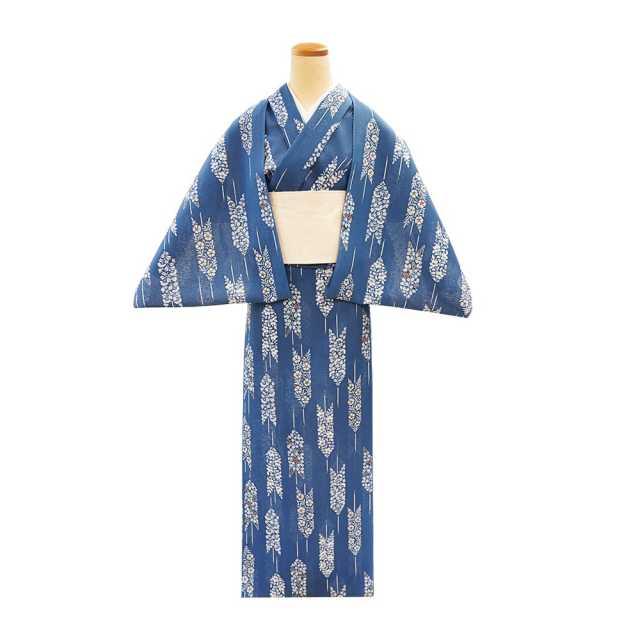 【反物】女性 『紅梅小紋』 矢羽根秋草