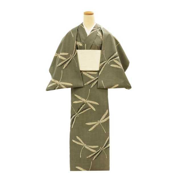 【反物】女性 『松煙染小紋』大蜻蛉