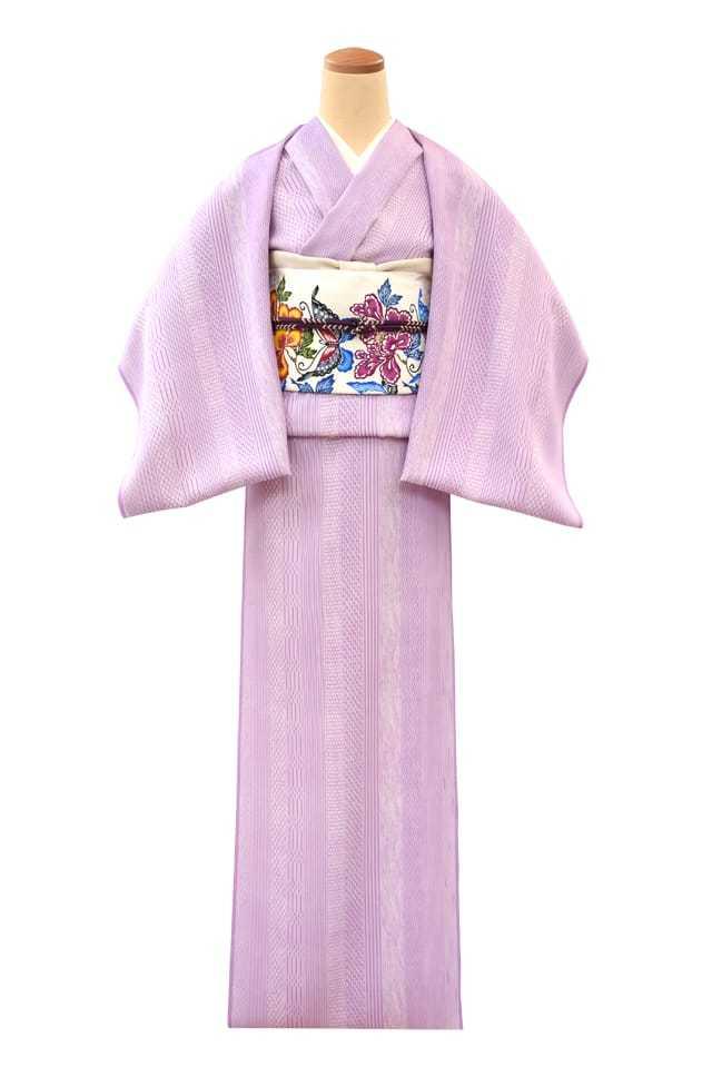 『江戸小紋』十二縞 藤色