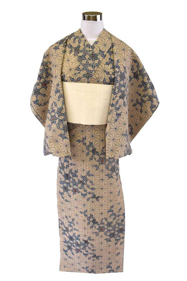 【反物】女性 『奥州小紋』麻の葉