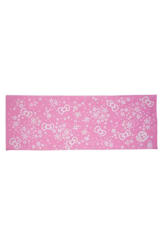 【コラボお手拭い】 『ハローキティ』 幸せ舞う桜ハローキティリボン