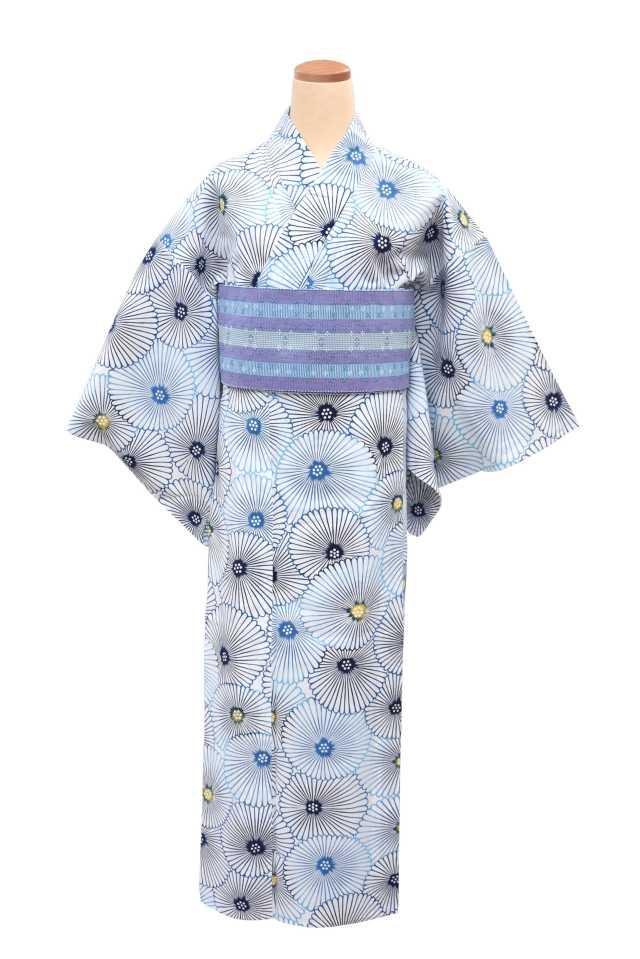 『アウトレットプレタ』コーマ白地 ブルー万寿菊
